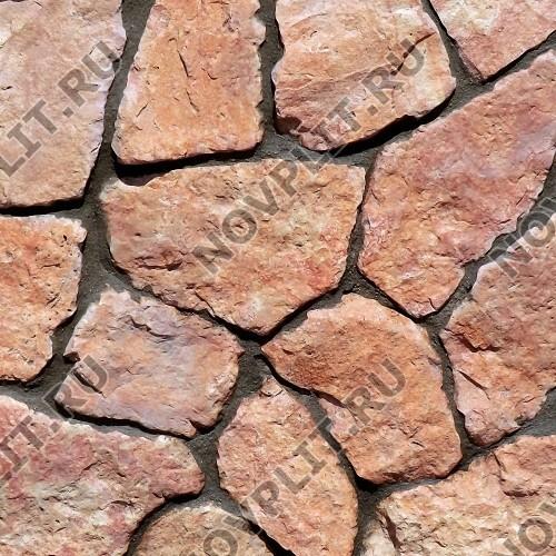 """Дикий камень """"Плитняк"""" доломит малиновый с розовым - 20 мм, шуба, пиленый с 1 стороны"""