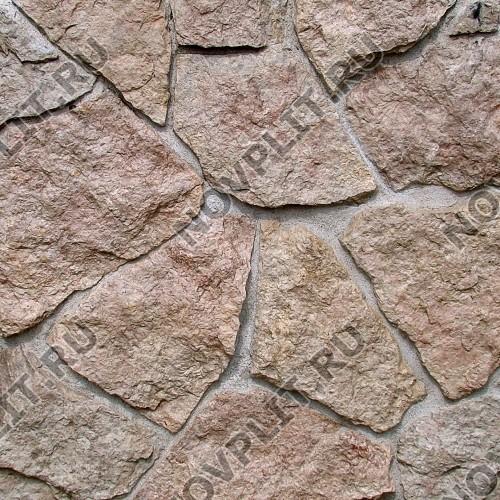 """Дикий камень """"Плитняк"""" доломит бурый """"серо-малиновый"""" - 20 мм, шуба, пиленый с 1 стороны"""
