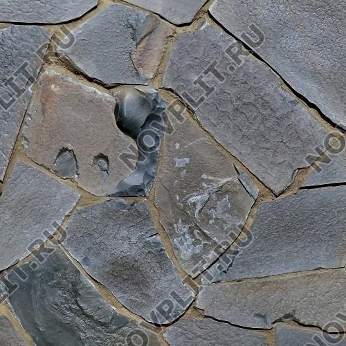 """Дикий камень """"Плитняк"""" шунгит тёмно-серый (чёрный) - 30 мм, шуба, необработанный"""