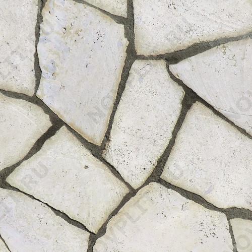 """Камень """"Брекчия"""" доломит белый с бежевым - 30 мм, пиленая, пиленый с 2 сторон"""