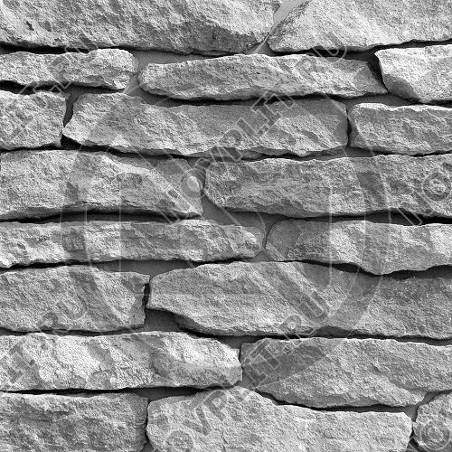 """Камень лапша """"Горбушка"""" (Шуба) »  Пиленый с 1 стороны, s-2-4 см (20-40 мм), L-Погон"""