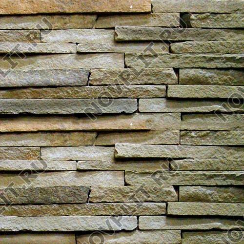 """Камень лапша """"Горбушка"""" песчаник серо-зеленый - Погонх20-40 мм, шуба, пиленый с 1 стороны"""