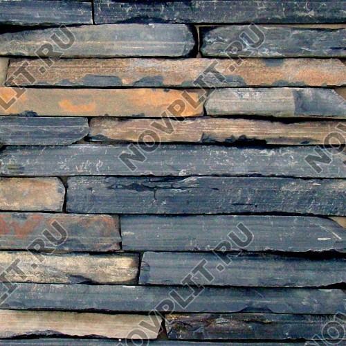 """Камень лапша """"Горбушка"""" шунгит тёмно-серый (чёрный) - Погонх20-40 мм, шуба, пиленый с 1 стороны"""