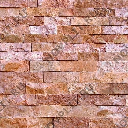 """Камень лапша """"Полоска"""" доломит малиновый с розовым - 50хПогон мм, шуба, пиленый с 5 сторон"""