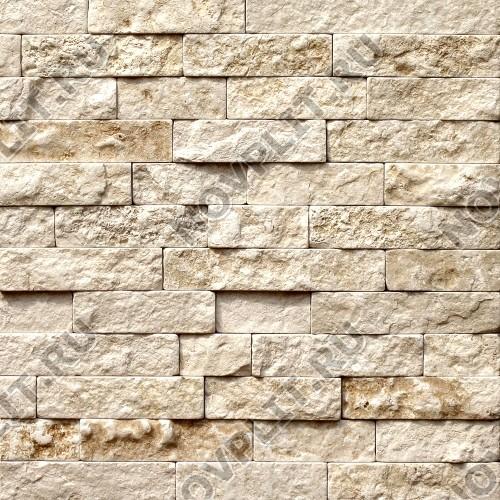 """Камень лапша """"Полоска"""" доломит бежевый - 90хПогон мм, шуба, галтованный, пиленый с 5 сторон"""