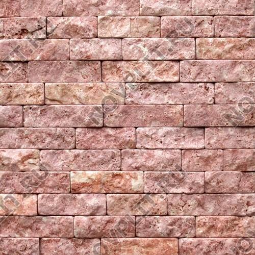 """Камень лапша """"Полоска"""" доломит малиновый с розовым - 60хПогон мм, шуба, галтованный, пиленый с 5 сторон"""