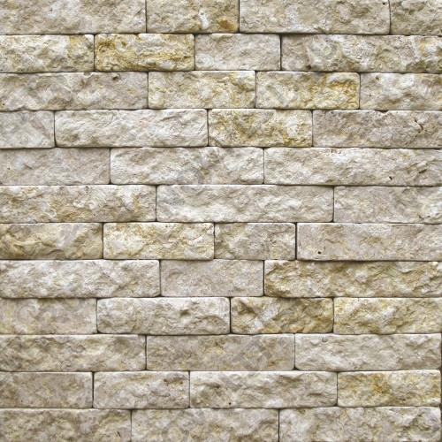 """Камень лапша """"Полоска"""" доломит серый с желтым - 60хПогон мм, шуба, галтованный, пиленый с 5 сторон"""