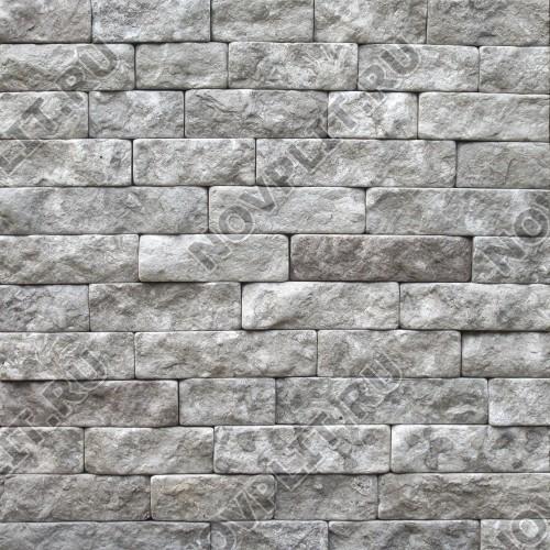 """Камень лапша """"Полоска"""" доломит серый - 60хПогон мм, шуба, галтованный, пиленый с 5 сторон"""