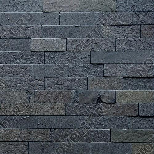 """Камень лапша """"Полоска"""" шунгит тёмно-серый (чёрный) - 50хПогон мм, шуба, галтованный, пиленый с 5 сторон"""