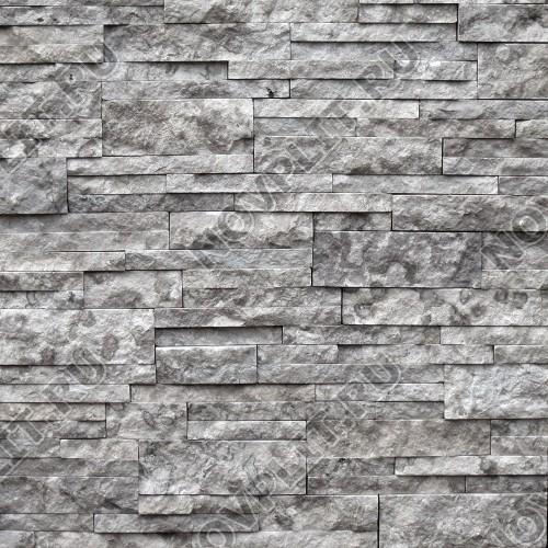 """Камень лапша """"Полоска"""" доломит серый - 40хПогон мм, шуба, пиленый с 5 сторон"""