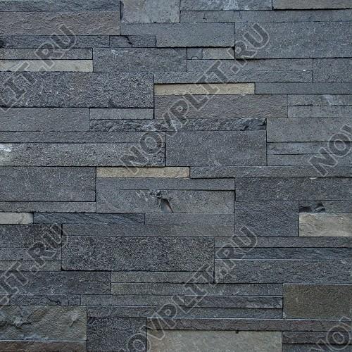 """Камень лапша """"Полоска"""" шунгит тёмно-серый (чёрный) - 40хПогон мм, шуба, пиленый с 5 сторон"""
