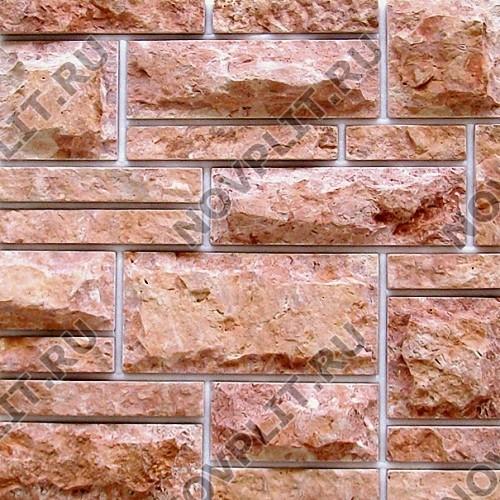 «Сложная» римская кладка доломит малиновый с розовым - Шов 3-10 мм, со сколом