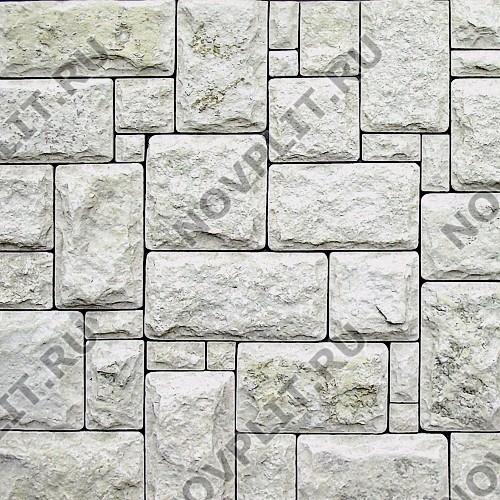 """Кладка «Старый замок» доломит бело серый """"изборский"""" - со сколом, галтованный"""