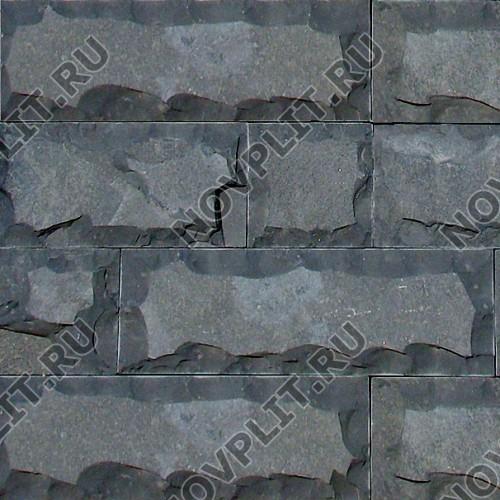 """Плитка """"Скала"""" шунгит тёмно-серый (чёрный) - 200хПогон мм, со сколом, пиленый с 5 сторон"""