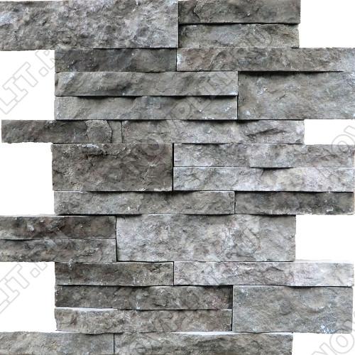 Раскладка «Полоска» доломит серый - шуба, пиленый с 5 сторон