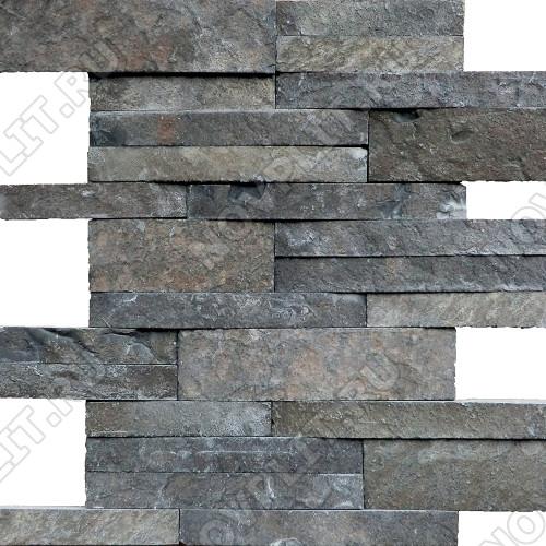 Раскладка «Полоска» шунгит тёмно-серый (чёрный) - шуба, пиленый с 5 сторон