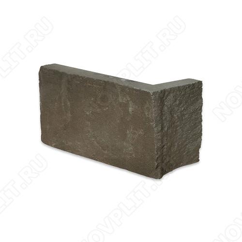 """Угловой камень """"Полоска"""" песчаник серо-зеленый - 60хПогон мм, шуба, пиленый с 5 сторон"""