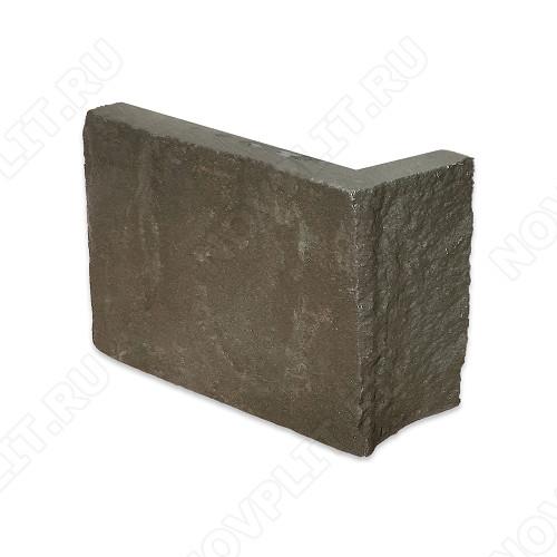 """Угловой камень """"Полоска"""" песчаник серо-зеленый - 90хПогон мм, шуба, пиленый с 5 сторон"""